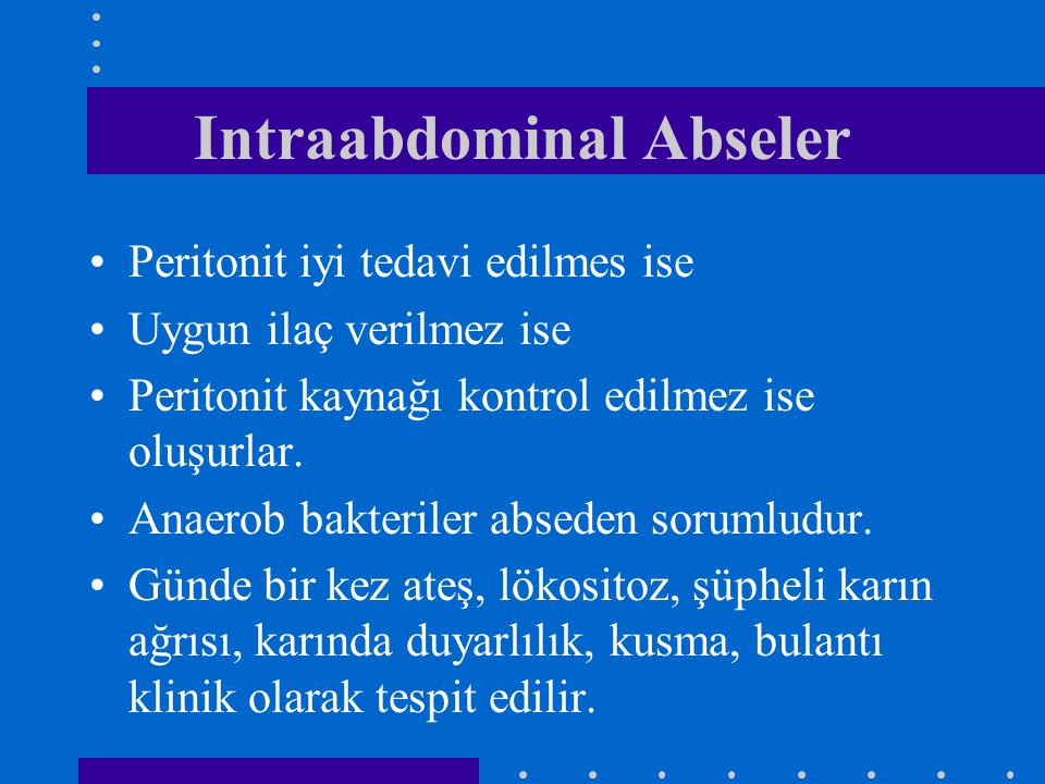 Intraabdominal Abseler