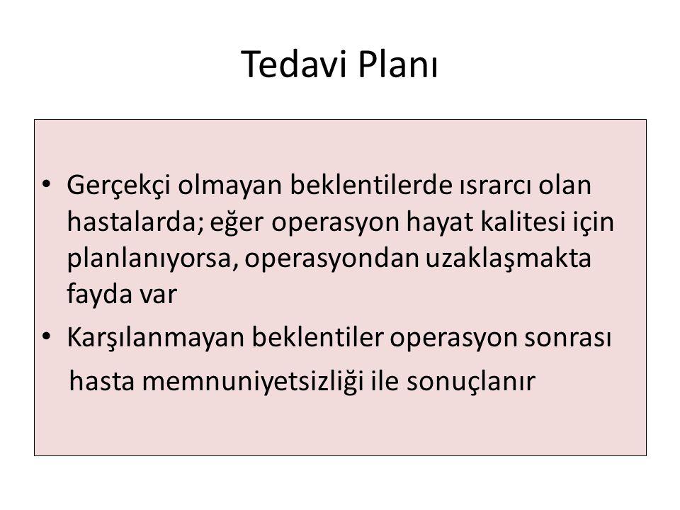 Tedavi Planı