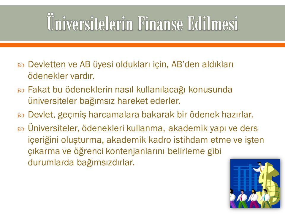 Üniversitelerin Finanse Edilmesi