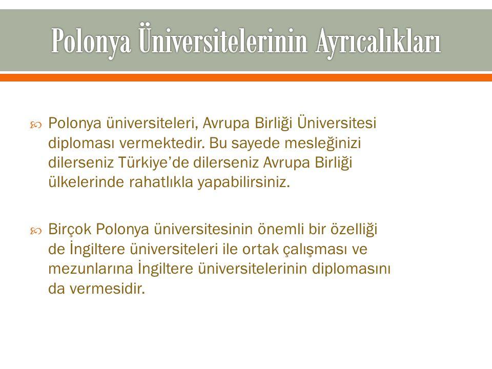 Polonya Üniversitelerinin Ayrıcalıkları