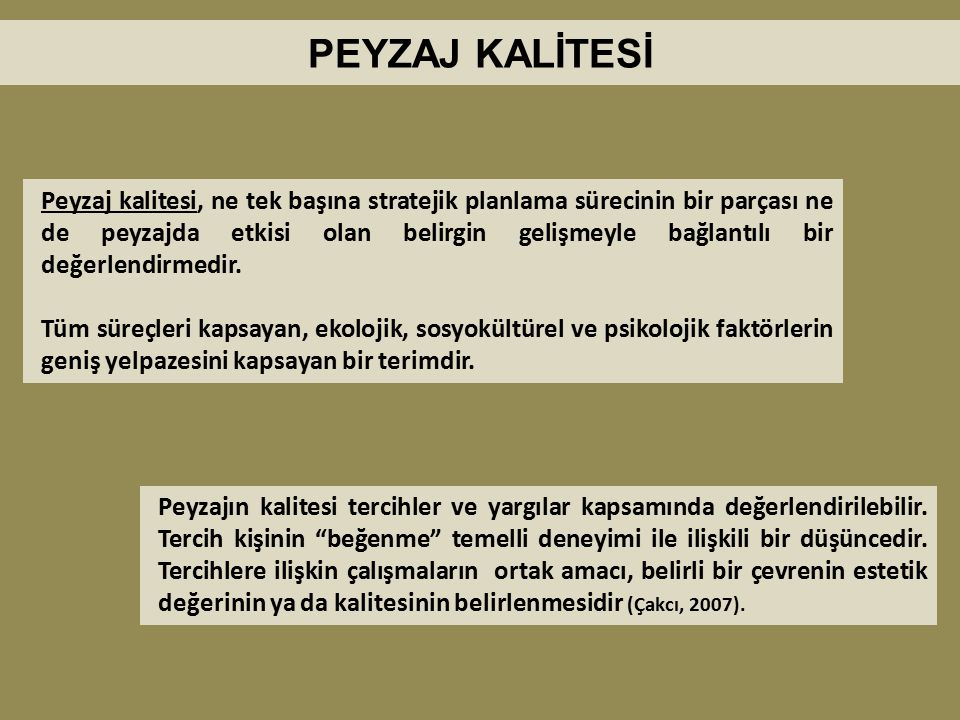 PEYZAJ KALİTESİ