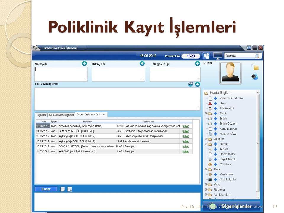 Poliklinik Kayıt İşlemleri
