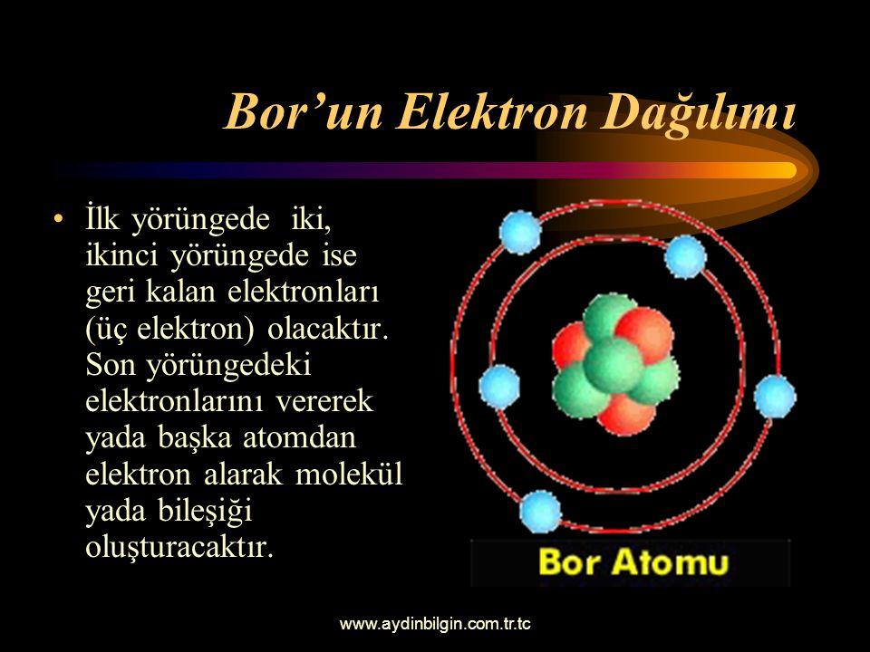 Bor'un Elektron Dağılımı