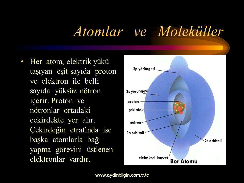 Atomlar ve Moleküller