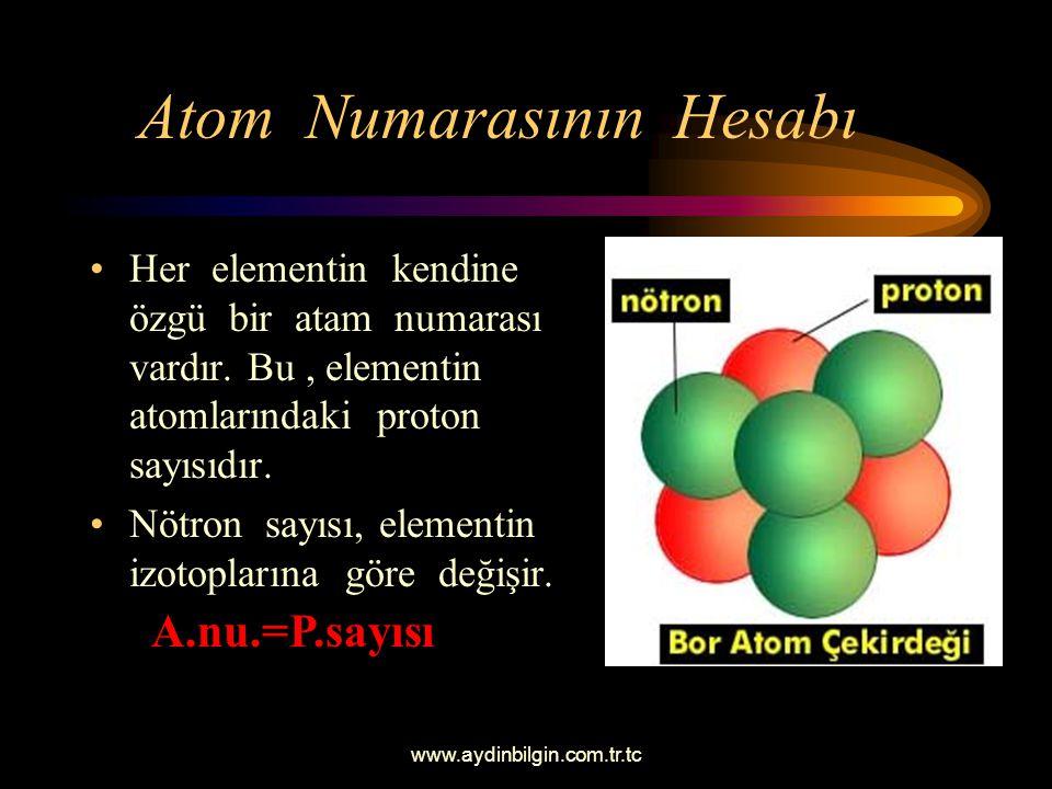 Atom Numarasının Hesabı
