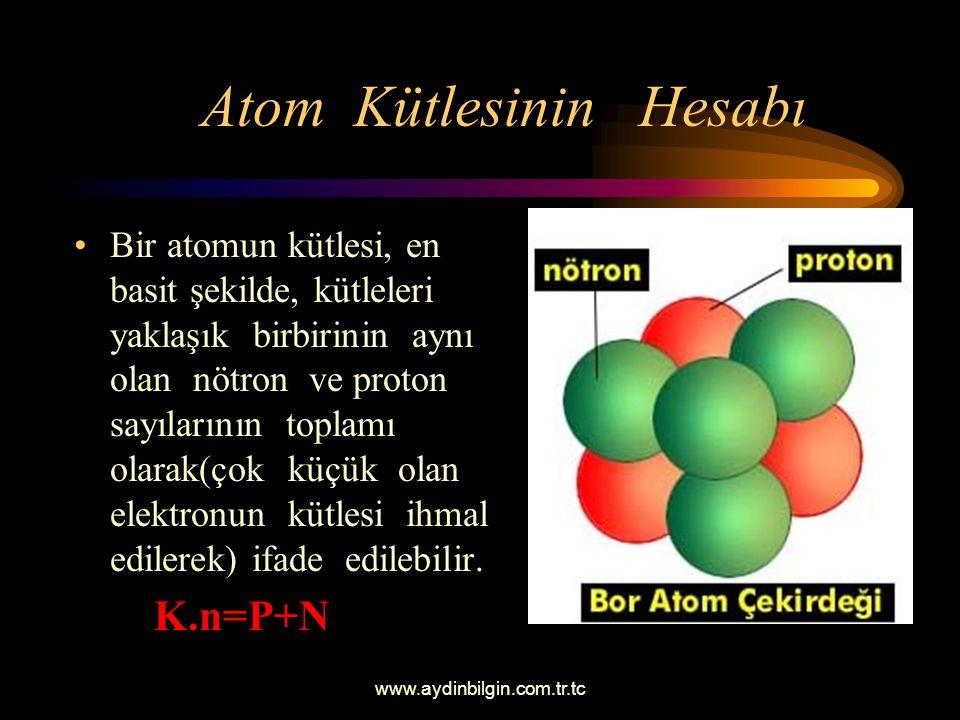 Atom Kütlesinin Hesabı