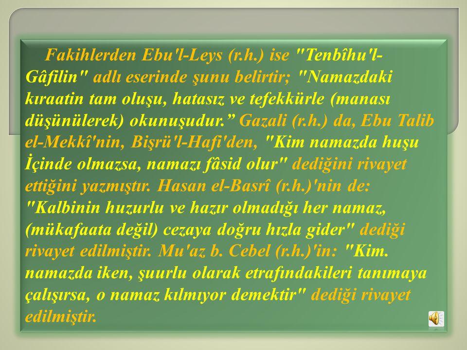 Fakihlerden Ebu l-Leys (r. h