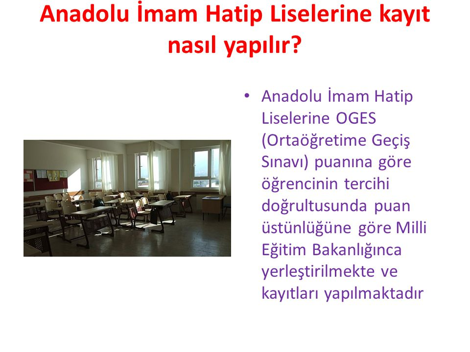 Anadolu İmam Hatip Liselerine kayıt nasıl yapılır