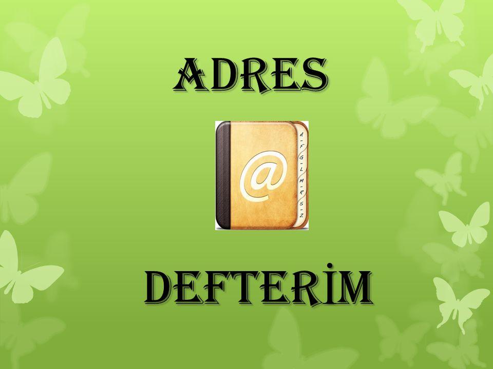 ADRES DEFTERİM