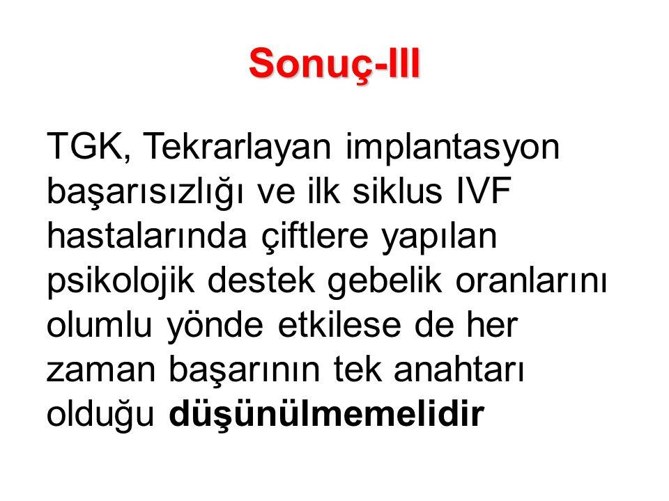 Sonuç-III