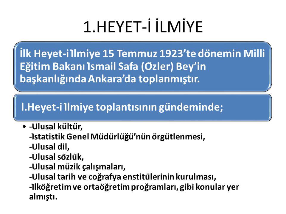 1.HEYET-İ İLMİYE