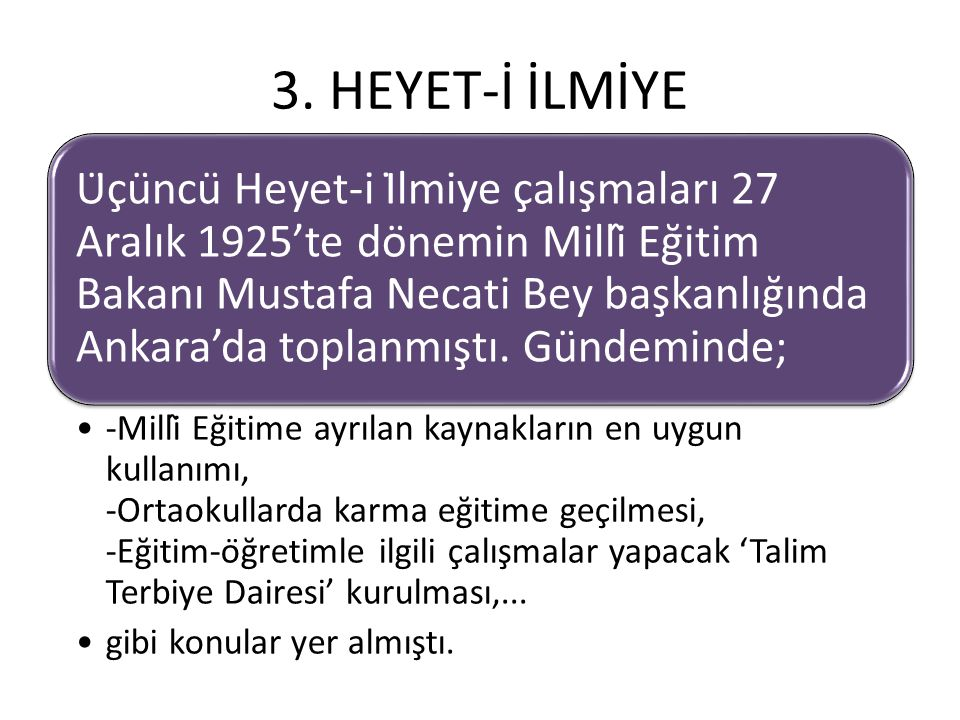 3. HEYET-İ İLMİYE