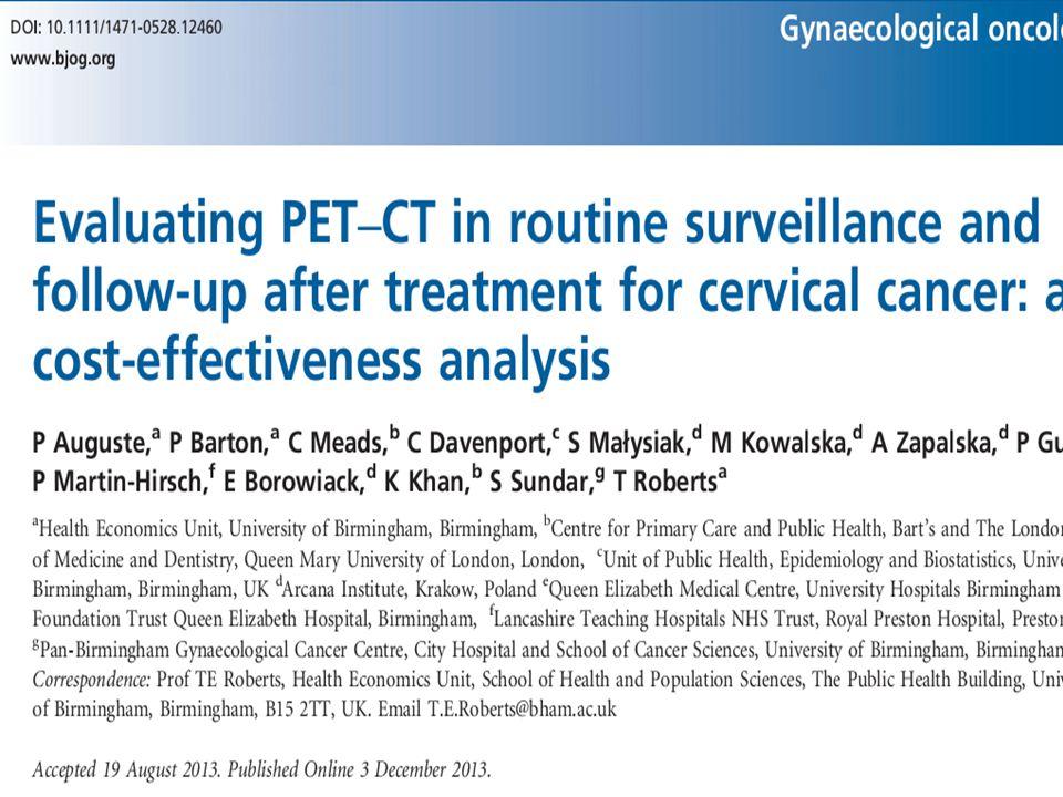 Primer tedavisi yapılmış olguların takibinde standart yaklaşım (fizik muayene, BT VE/VEYA MR ile takip) ve PET-BT ve/veya MR ile yaklaşım karşılaştırılmış.