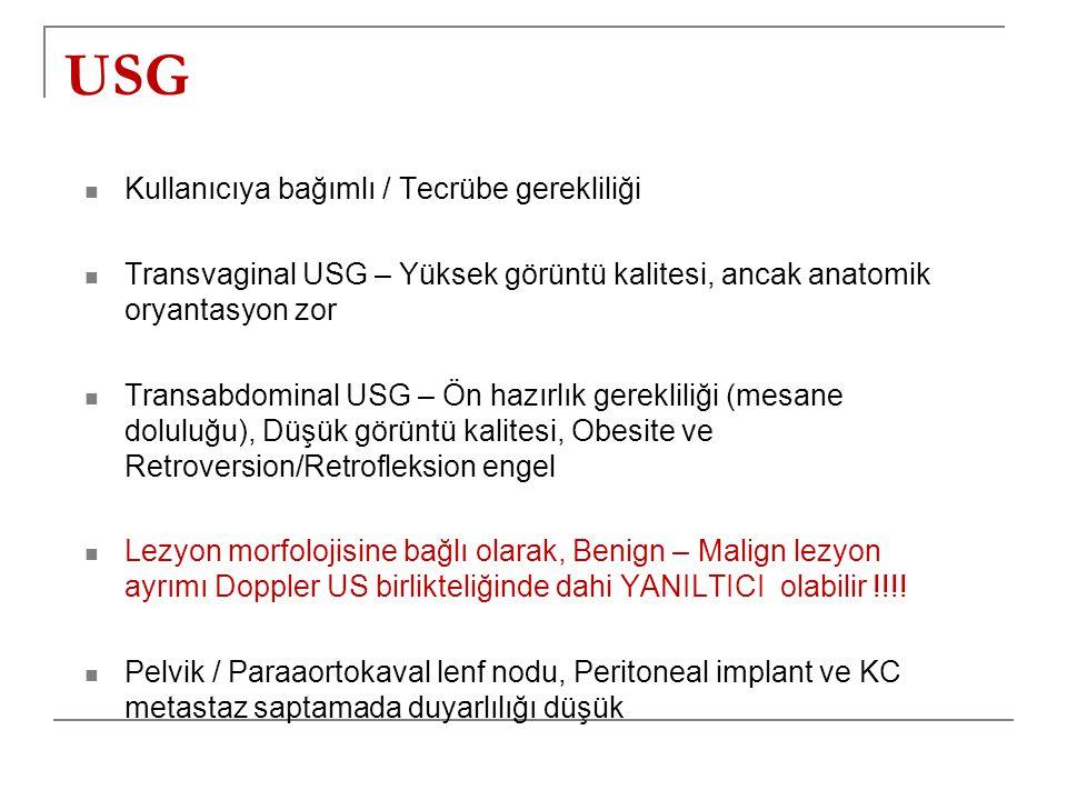 USG Kullanıcıya bağımlı / Tecrübe gerekliliği