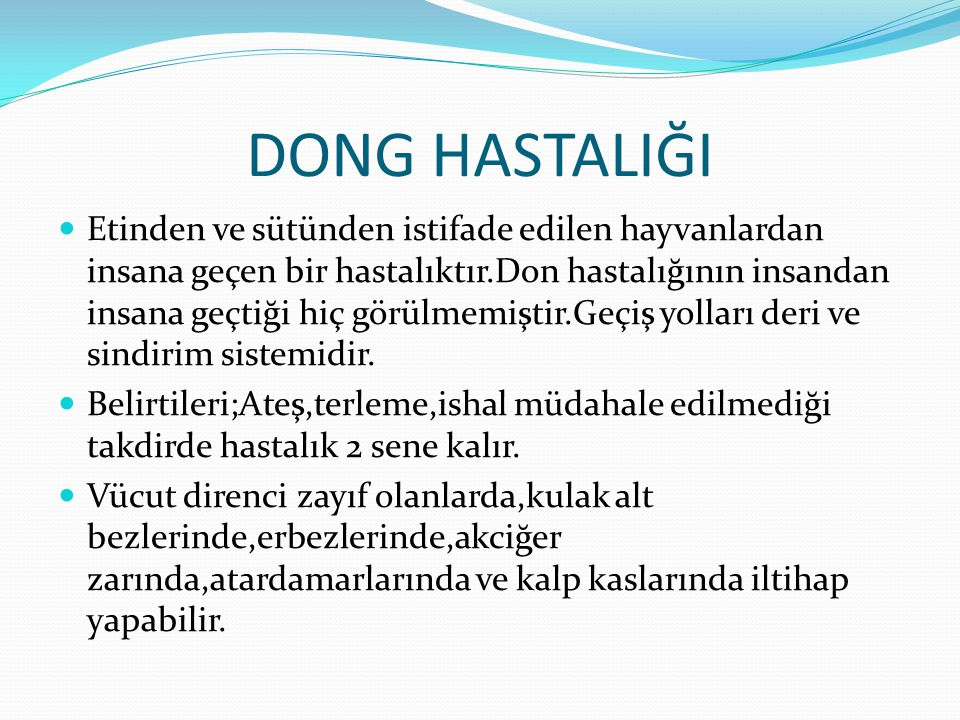 DONG HASTALIĞI