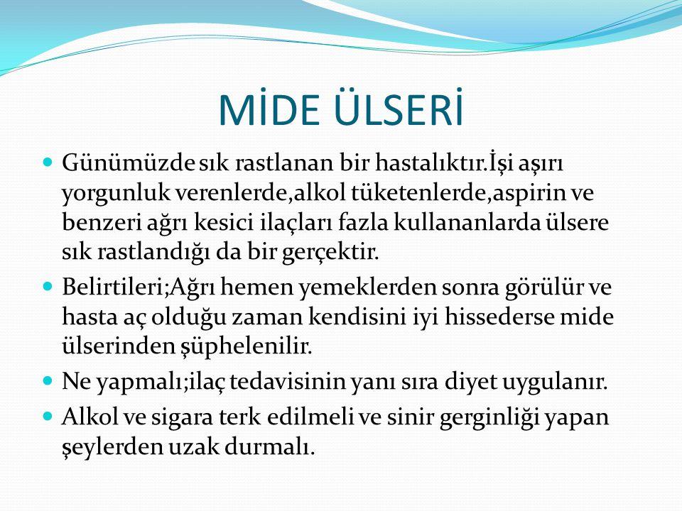 MİDE ÜLSERİ