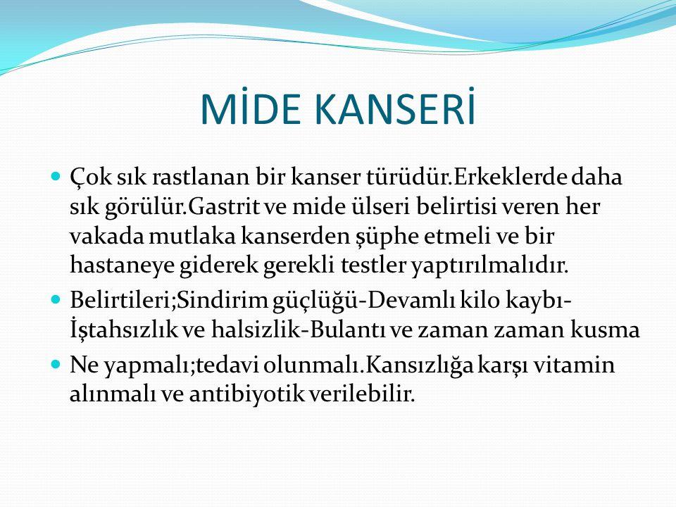 MİDE KANSERİ