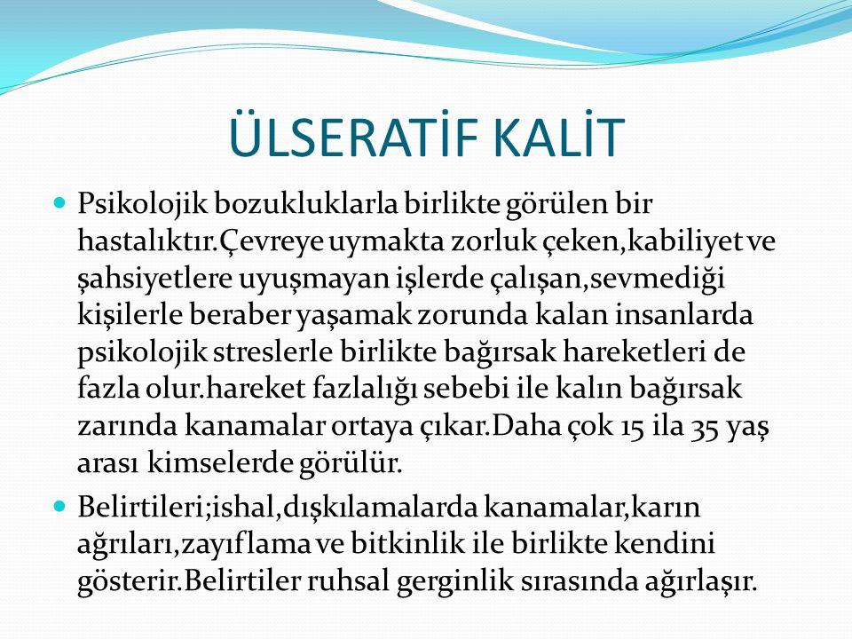 ÜLSERATİF KALİT
