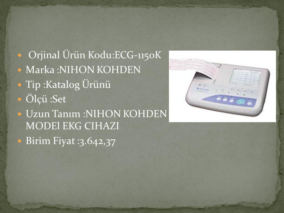 Orjinal Ürün Kodu:ECG-1150K
