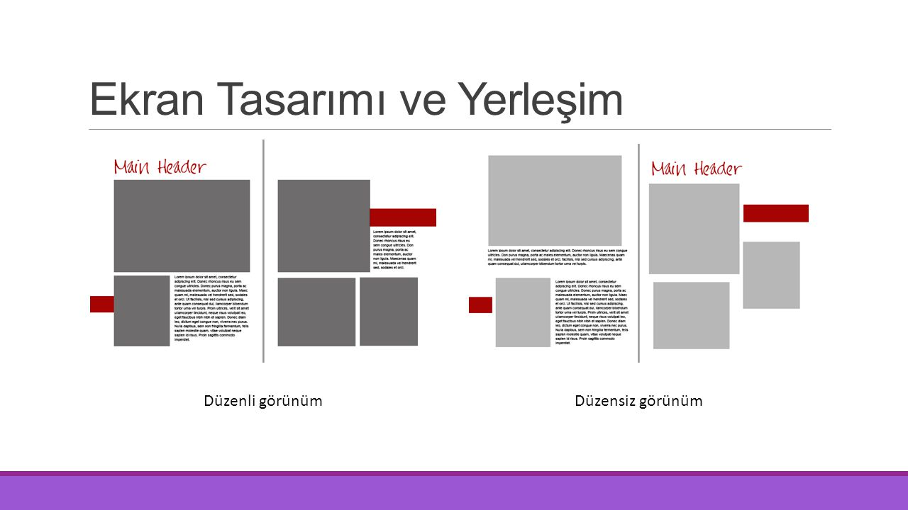 Ekran Tasarımı ve Yerleşim