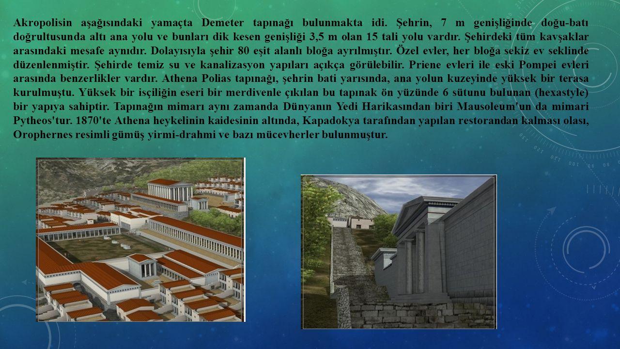 Akropolisin aşağısındaki yamaçta Demeter tapınağı bulunmakta idi