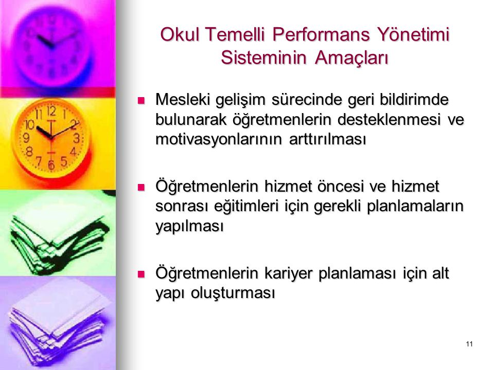 Okul Temelli Performans Yönetimi Sisteminin Amaçları