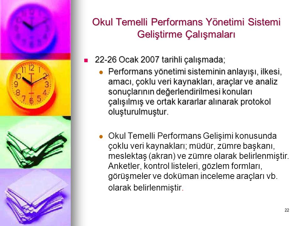Okul Temelli Performans Yönetimi Sistemi Geliştirme Çalışmaları