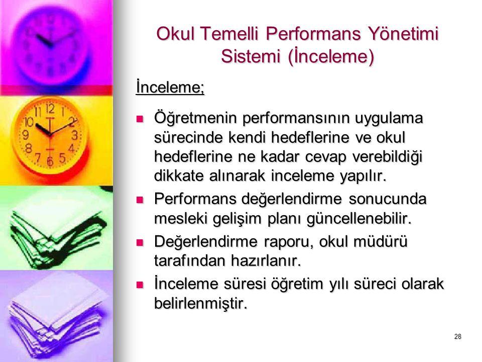 Okul Temelli Performans Yönetimi Sistemi (İnceleme)
