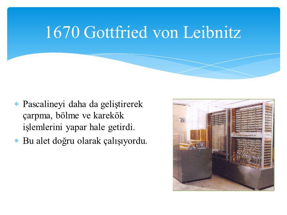 1670 Gottfried von Leibnitz