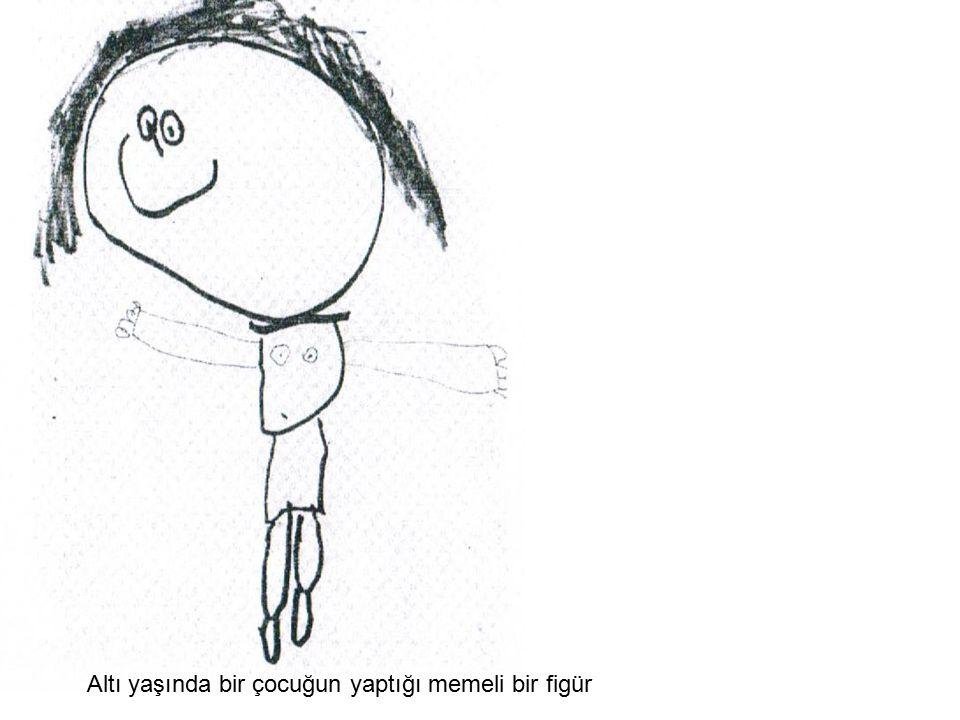 Altı yaşında bir çocuğun yaptığı memeli bir figür