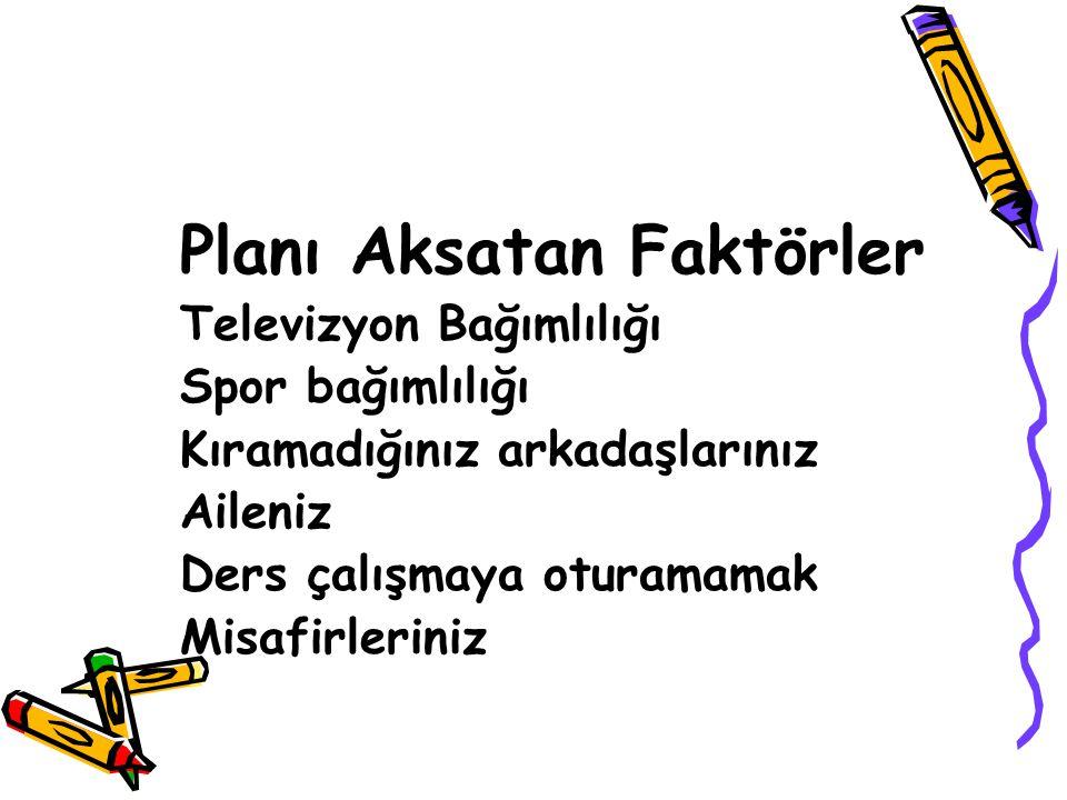 Planı Aksatan Faktörler