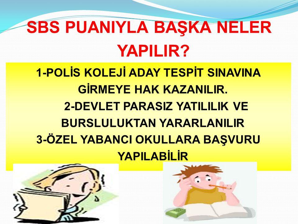 SBS PUANIYLA BAŞKA NELER YAPILIR
