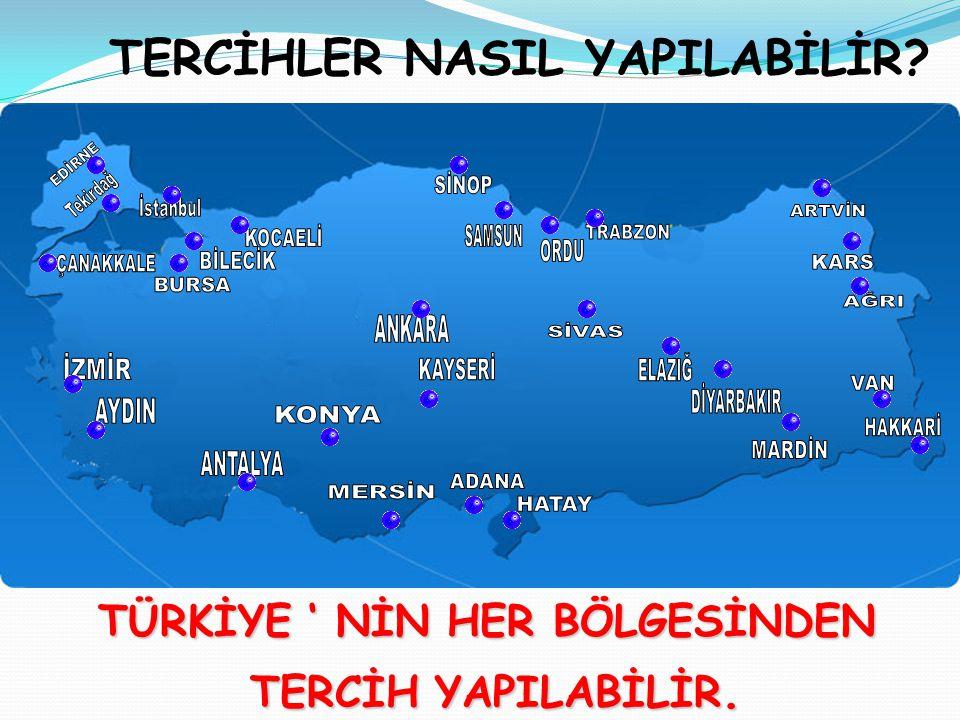 TERCİHLER NASIL YAPILABİLİR