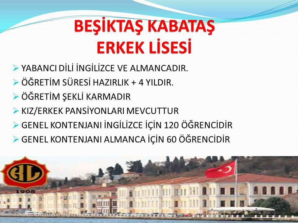 BEŞİKTAŞ KABATAŞ ERKEK LİSESİ