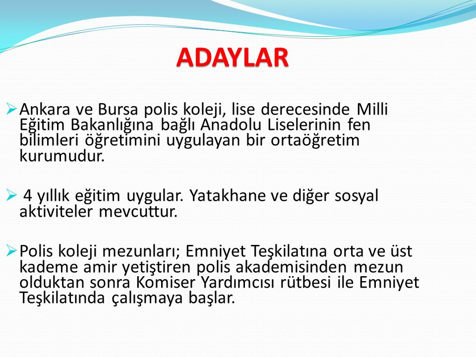 ADAYLAR