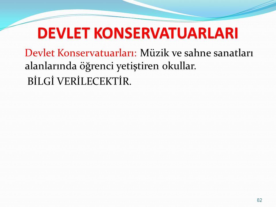 DEVLET KONSERVATUARLARI