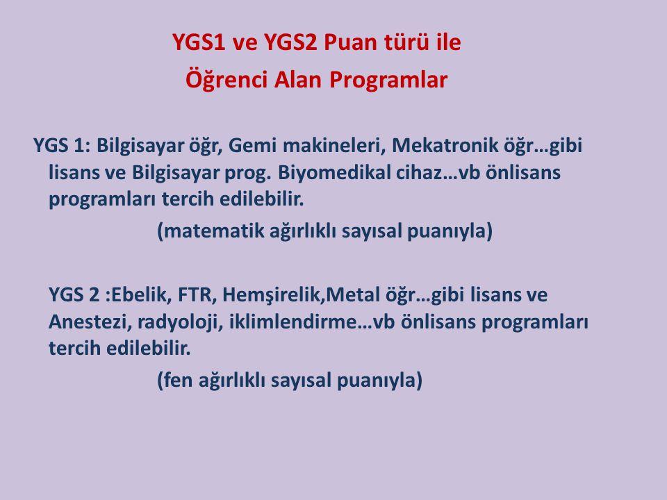 Öğrenci Alan Programlar
