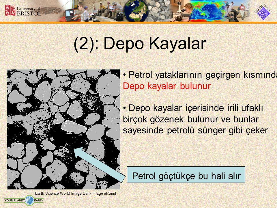 (2): Depo Kayalar Petrol yataklarının geçirgen kısmında
