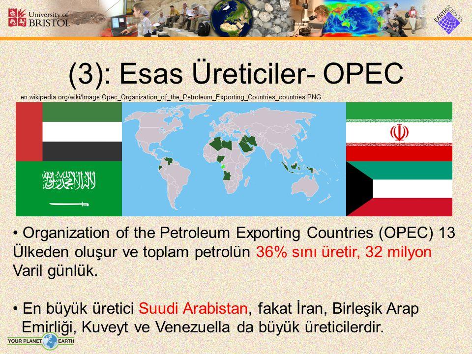 (3): Esas Üreticiler- OPEC