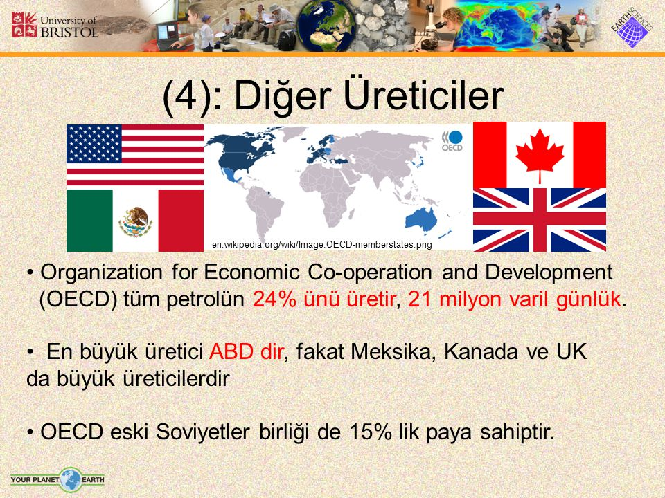 (4): Diğer Üreticiler en.wikipedia.org/wiki/Image:OECD-memberstates.png. Organization for Economic Co-operation and Development.