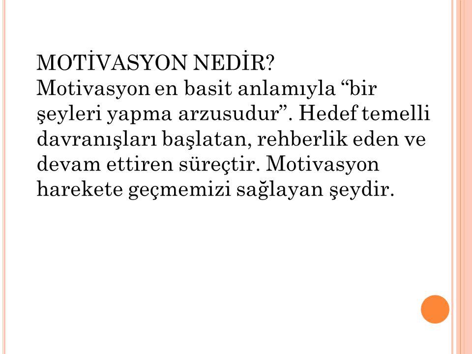 MOTİVASYON NEDİR