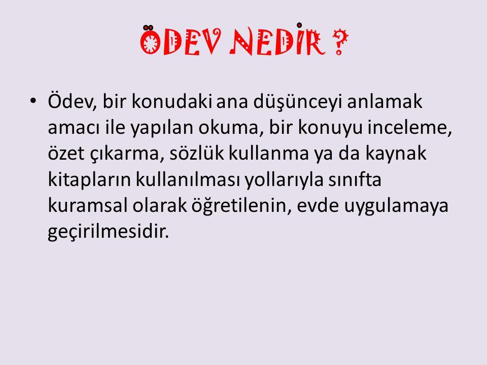 ODEV NEDIR