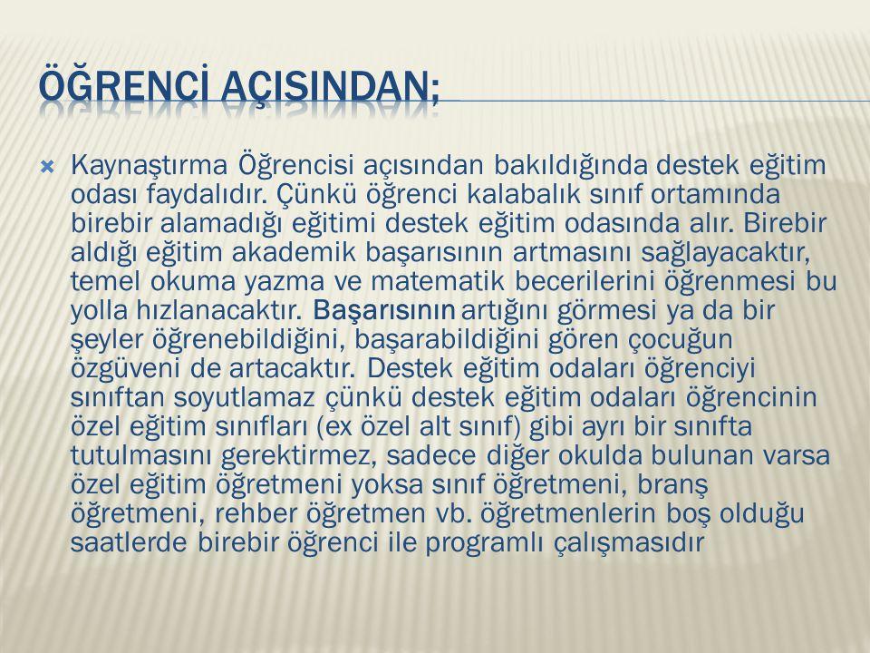 ÖĞRENCİ AÇISINDAN;