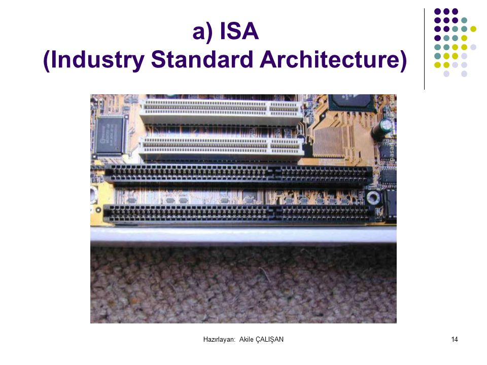 a) ISA (Industry Standard Architecture)