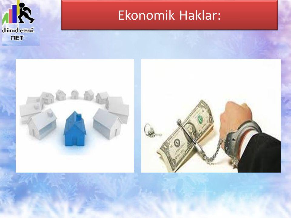 Ekonomik Haklar: