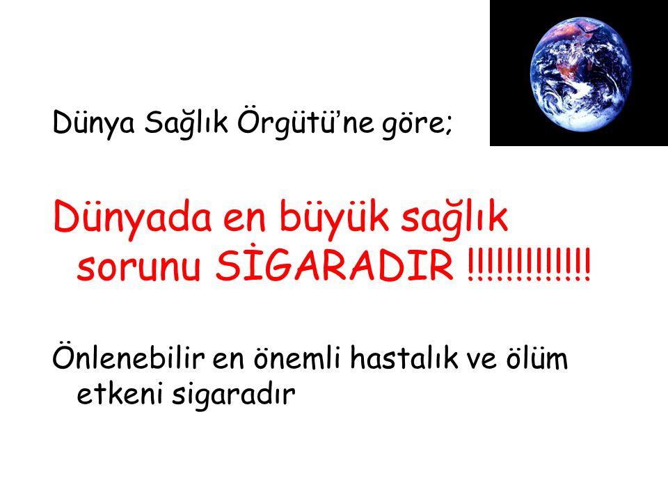 Dünyada en büyük sağlık sorunu SİGARADIR !!!!!!!!!!!!!