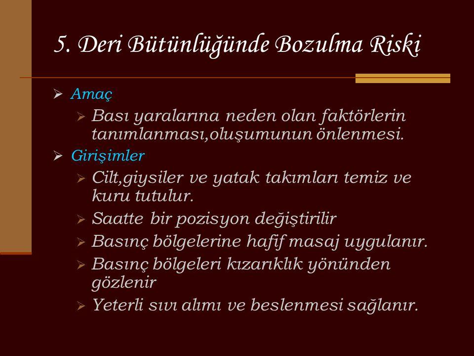 5. Deri Bütünlüğünde Bozulma Riski