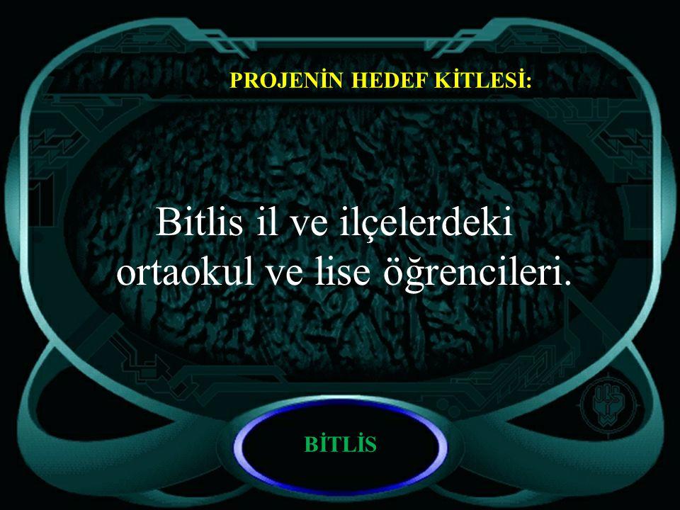 Bitlis il ve ilçelerdeki ortaokul ve lise öğrencileri.
