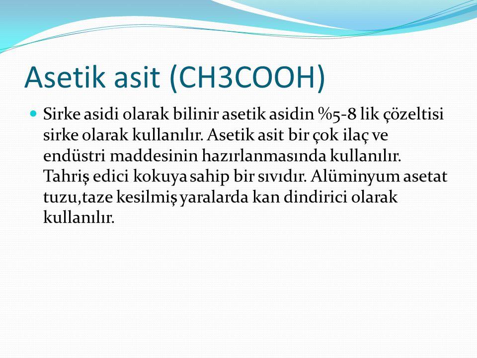 Asetik asit (CH3COOH)