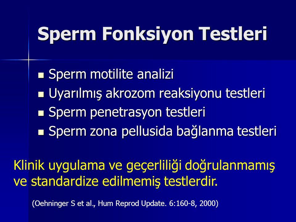 Sperm Fonksiyon Testleri